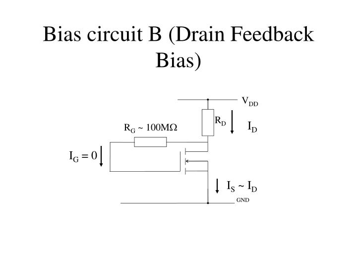 Bias circuit B (Drain Feedback Bias)