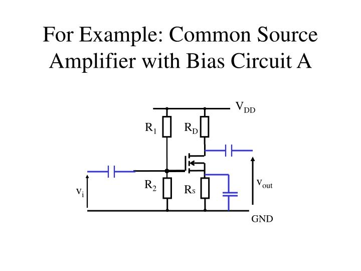 For Example: Common Source Amplifier with Bias Circuit A