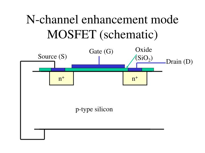 N channel enhancement mode mosfet schematic