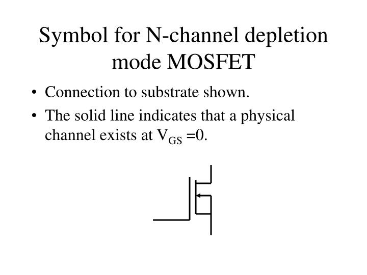 Symbol for N-channel depletion mode MOSFET