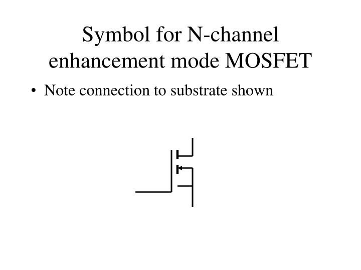 Symbol for N-channel enhancement mode MOSFET