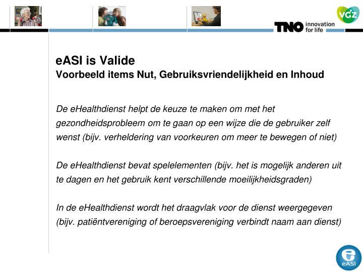 eASI is Valide