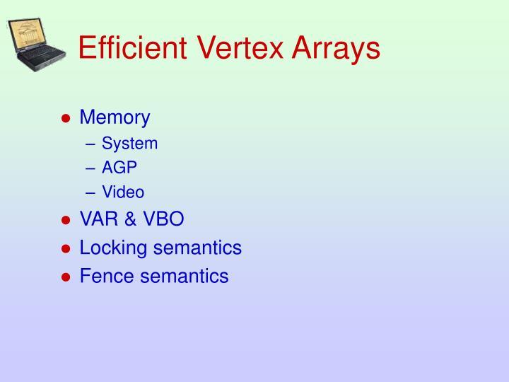 Efficient Vertex Arrays