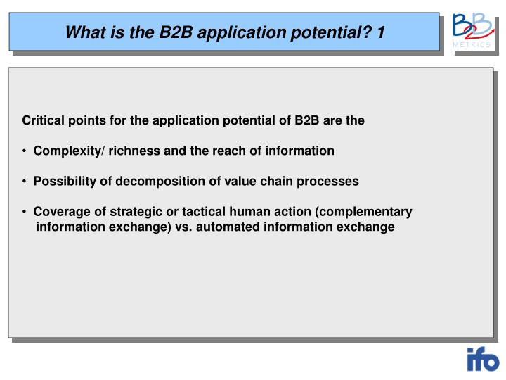 What is the B2B application potential? 1