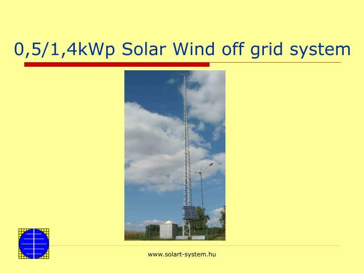 0,5/1,4kWp Solar Wind off grid system