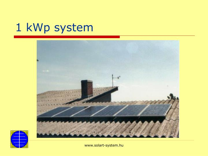 1 kWp system