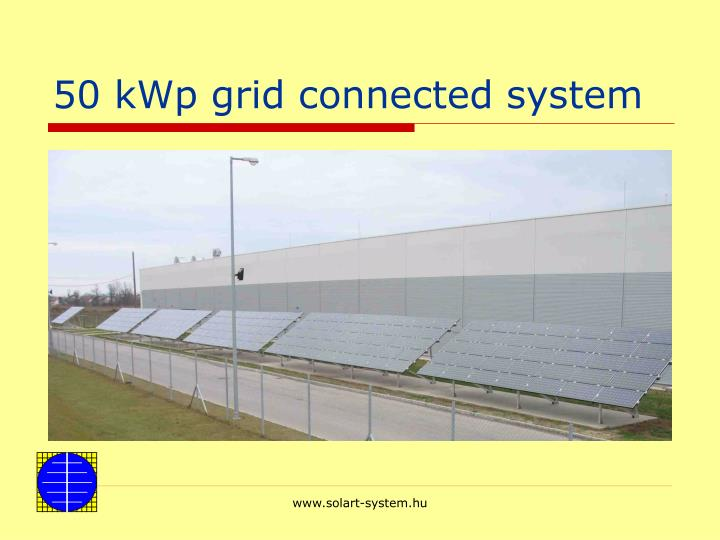 50 kWp grid connected system