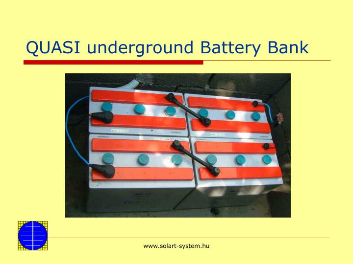QUASI underground Battery Bank