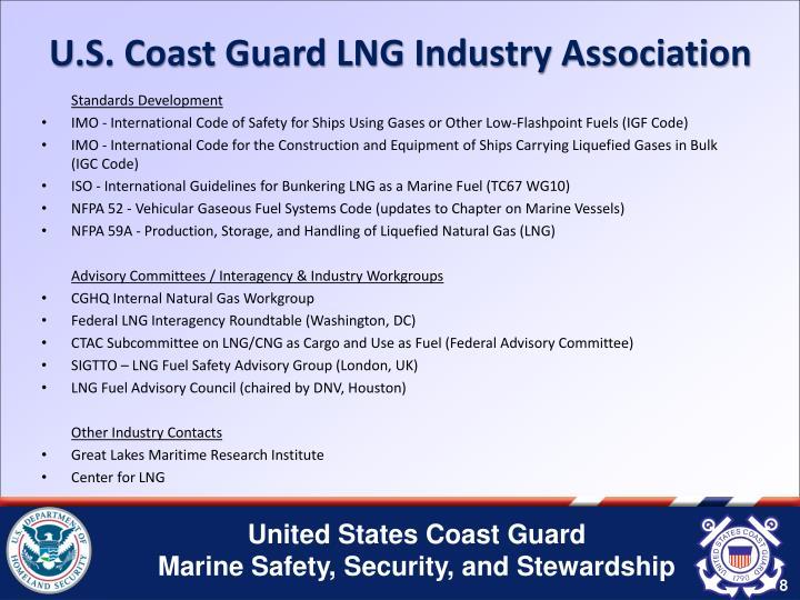 U.S. Coast Guard LNG Industry Association