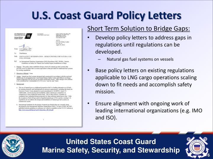 U.S. Coast Guard Policy Letters