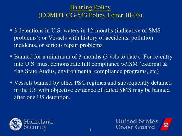 Banning Policy
