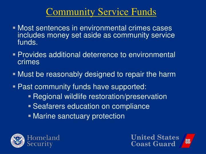 Community Service Funds
