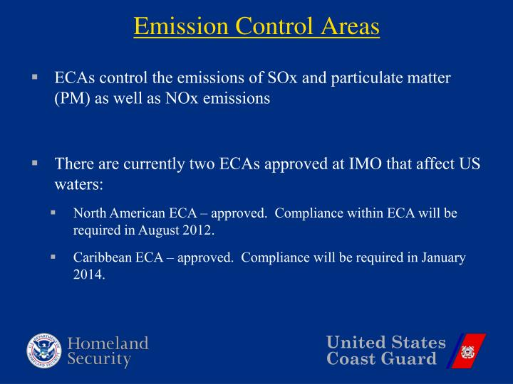 Emission Control Areas