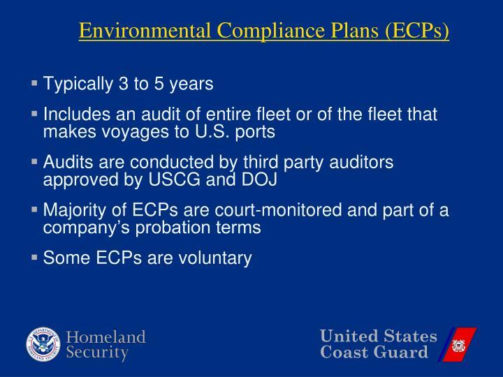 Environmental Compliance Plans (ECPs)