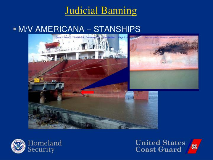 Judicial Banning
