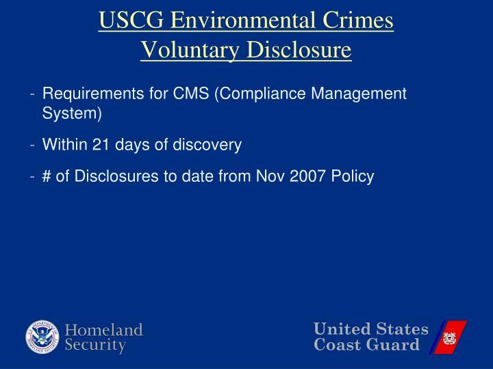 USCG Environmental Crimes