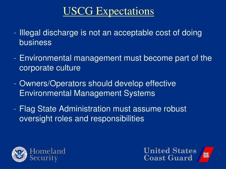 USCG Expectations