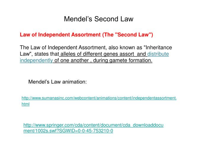 Mendel's Second Law