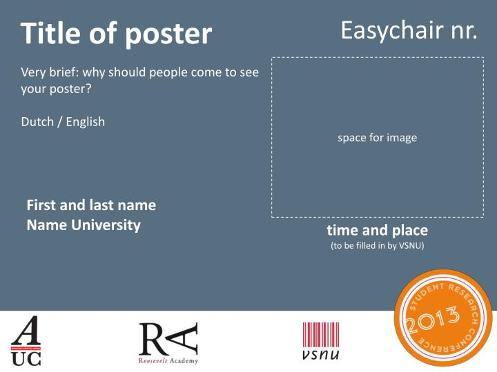 Title of poster
