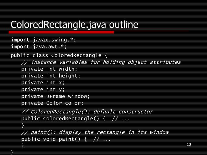 ColoredRectangle.java outline