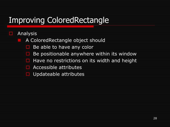 Improving ColoredRectangle
