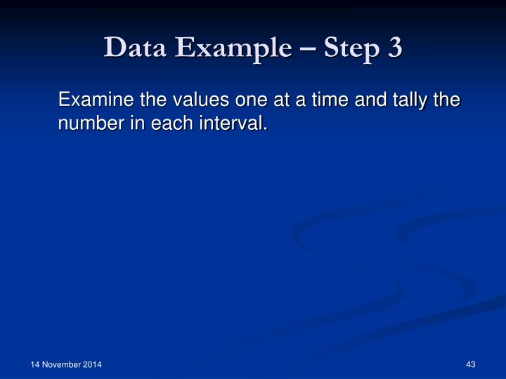 Data Example – Step 3