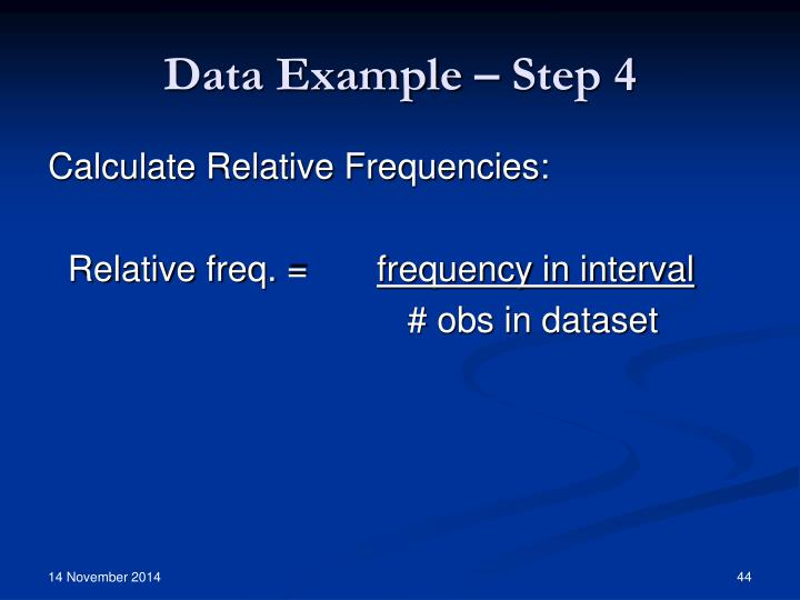 Data Example – Step 4