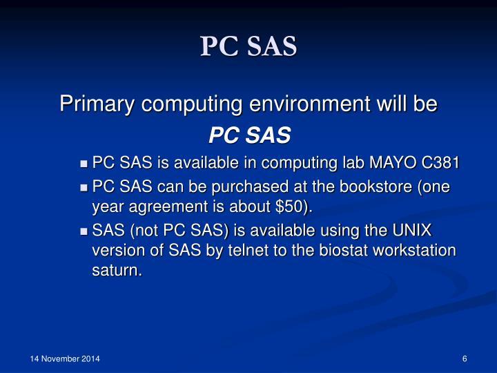 PC SAS