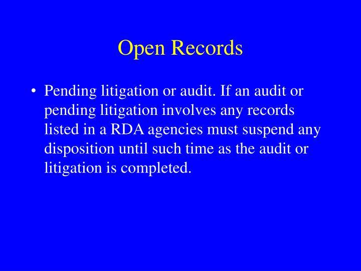 Open Records