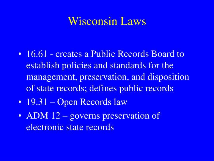 Wisconsin Laws