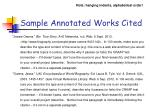 sample annotated works cited