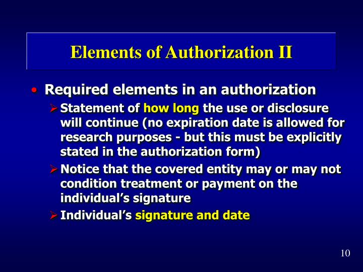 Elements of Authorization II