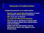 elements of authorization