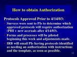 how to obtain authorization1