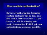 how to obtain authorization2