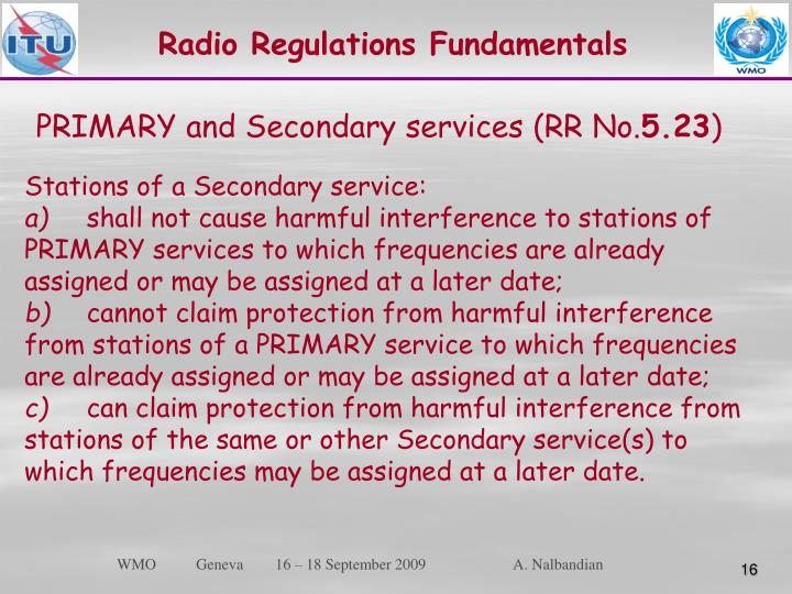 Radio Regulations Fundamentals