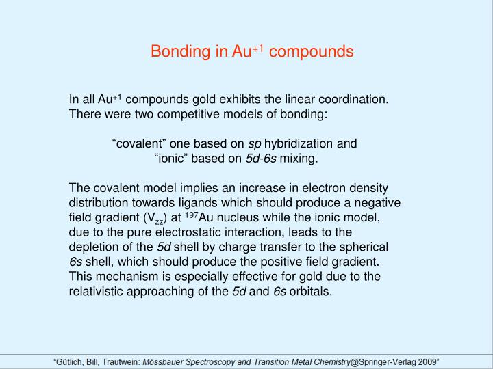 Bonding in Au