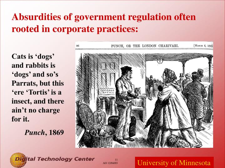 Absurdities of government regulation often rooted in corporate practices: