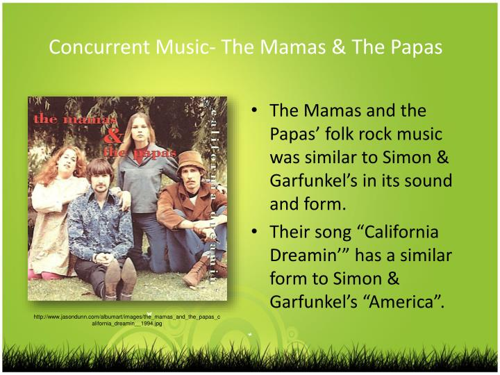 Concurrent Music- The Mamas & The Papas
