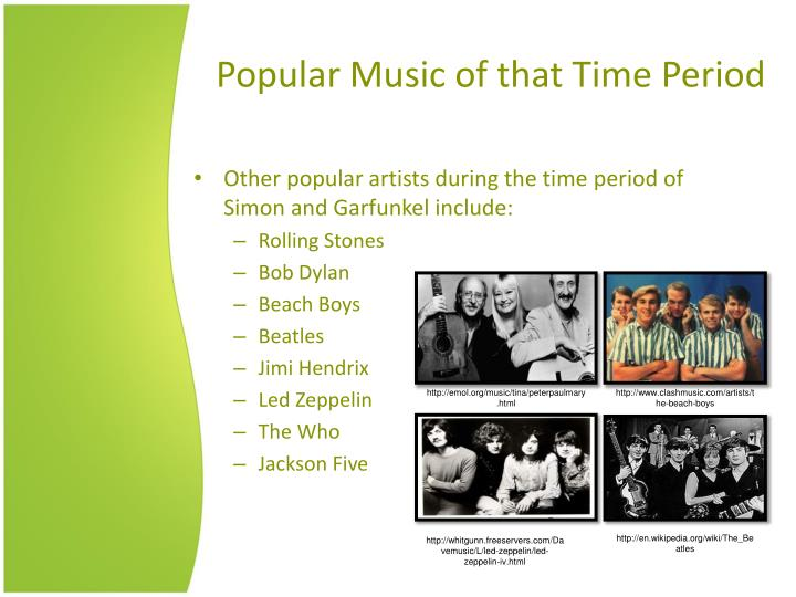 Popular Music of that Time Period
