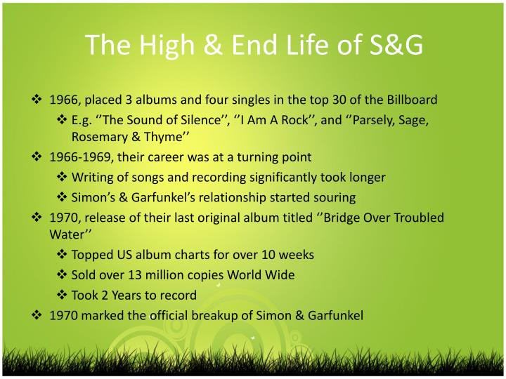 The High & End Life of S&G