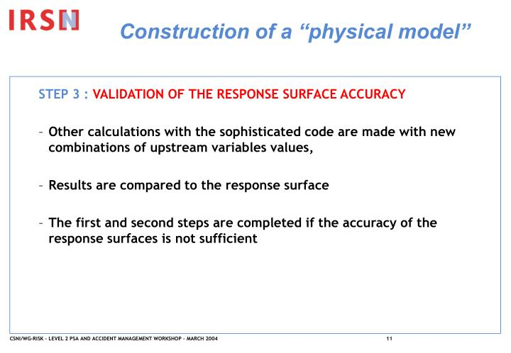 """Construction of a """"physical model"""""""