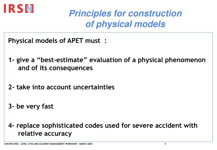 Principles for construction