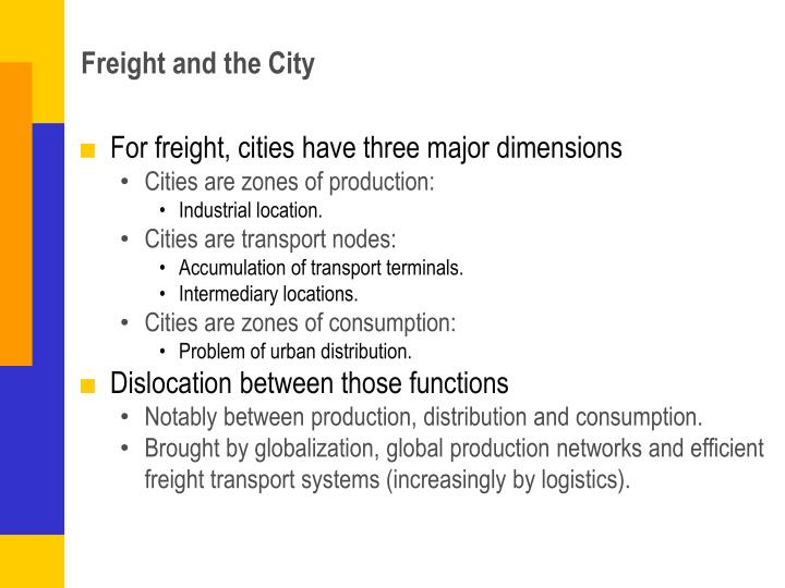 Freight and the City