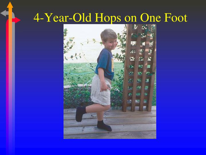 4-Year-Old Hops on One Foot