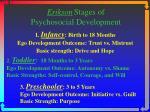 erikson stages of psychosocial development