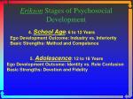 erikson stages of psychosocial development1