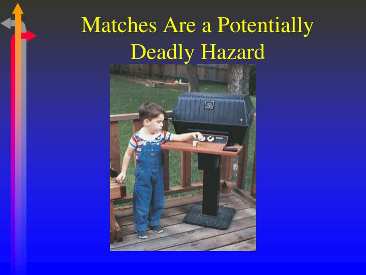 Matches Are a Potentially Deadly Hazard