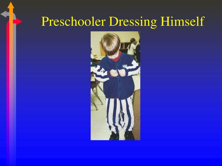 Preschooler Dressing Himself