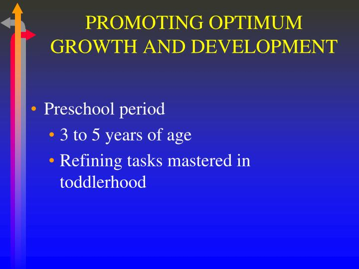 PROMOTING OPTIMUM GROWTH AND DEVELOPMENT